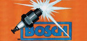 Publicité pour un magnéto d'allumage haute tension Bosch