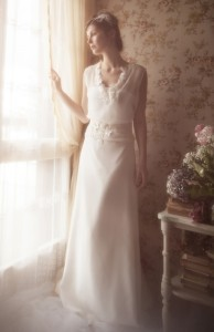 Elsa Gary propose, cette année, une collection de robes de mariée vintage. Crédit photo : http://www.couturenuptiale.com/
