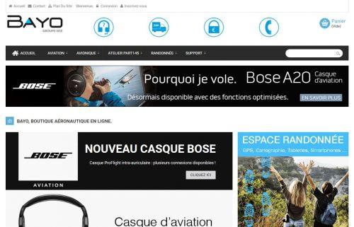Bayo Boutique : vente en ligne d'accessoires en aéronautique