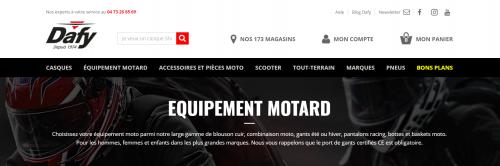 Dafy, leader de l'équipement moto français