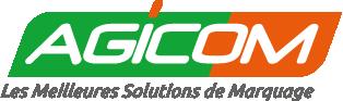 Logo vert et orange de l'entreprise de marquage industriel Agicom