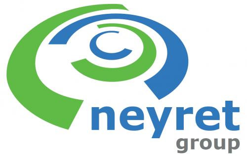 Logo vert et bleu de l'entreprise Neyret